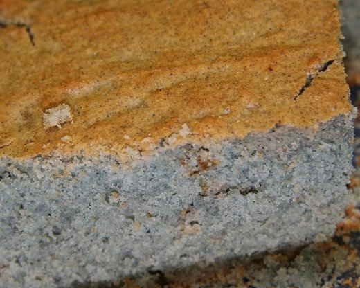 Here is a cake of skillet cornbread made with blue cornmeal.