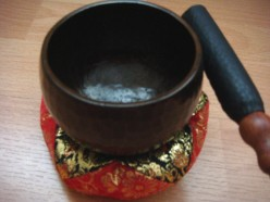 This is how a singing bowl looks like.  It was a birthday gift from my friend Daisy.