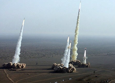 Iranian test missiles-imagine if THEY had the bomb!