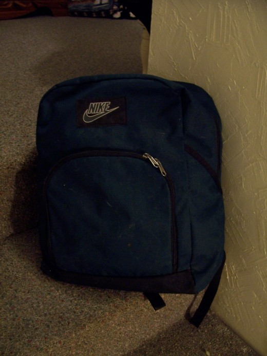My battered old back pack.