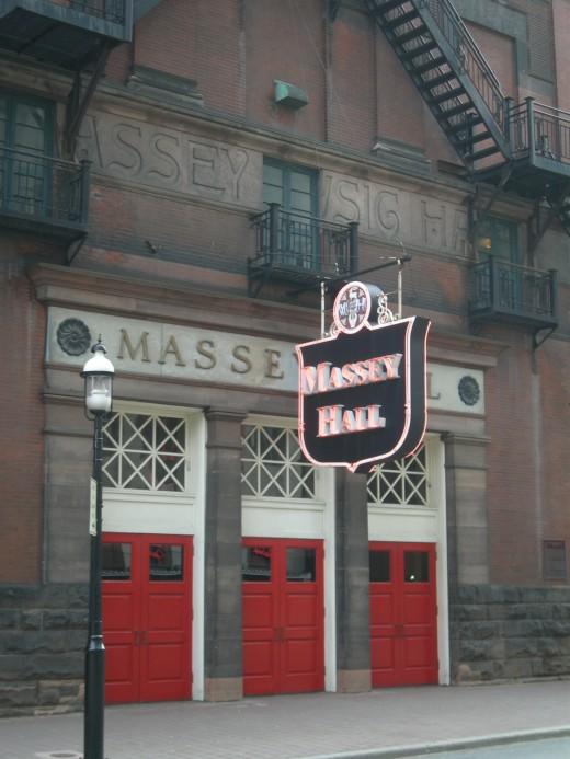 Shuter Street entrance to Massey Hall. Toronto, Canada.