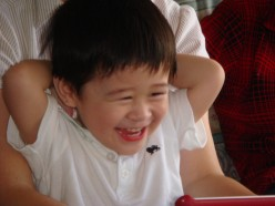 David, my nephew, laughs in such a way that gives me a boost of happiness all the time!