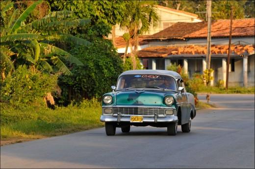 Traffic in Vinales Pinar del Rio, Cuba