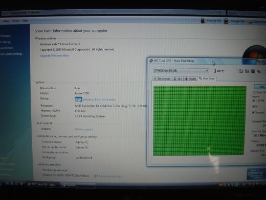 Verified hard disk is still good.