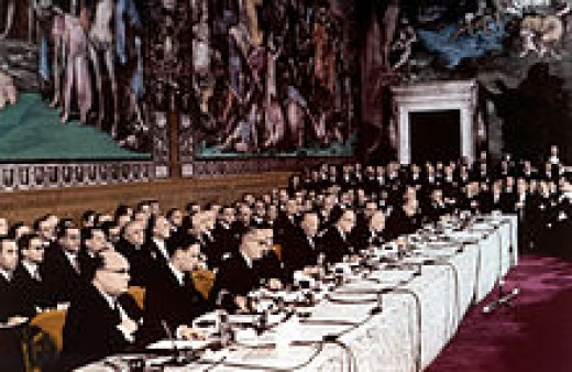 The Rome Treaty was signed in 1957 and came into force in 1958. It created the European Economic Community