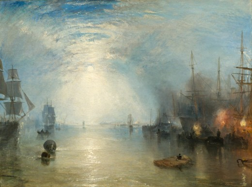 Keelmen Heaving in Coals by Moonlight, painted in 1835, by Joseph Mallord William Turner (1775 - 1851), Courtesy of National Gallery of Art, Washington.