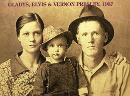 Gladys, Elvis,and Vernon Presley