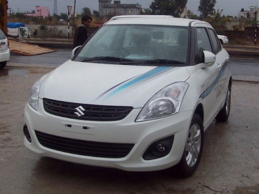 Swift Dzire Test Drive Vehicle - front view