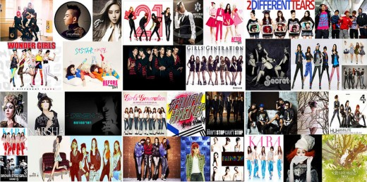 Compilation of K-Pop Album Covers