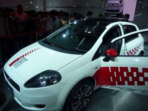 Photograph of Fiat Grande Punto 2010 auto expo New Delhi - Sports model