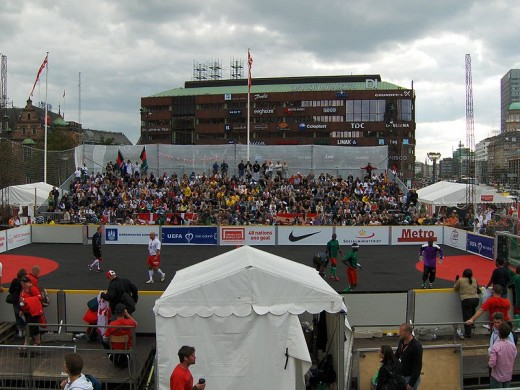 The Homeless World Cup is held annually in various countries.