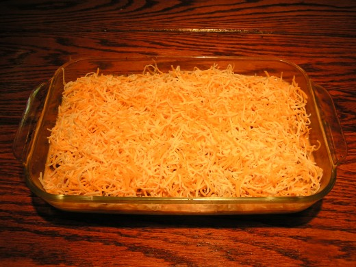 Cover with grated cheese.
