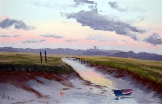 an original Kieron Williamson painting