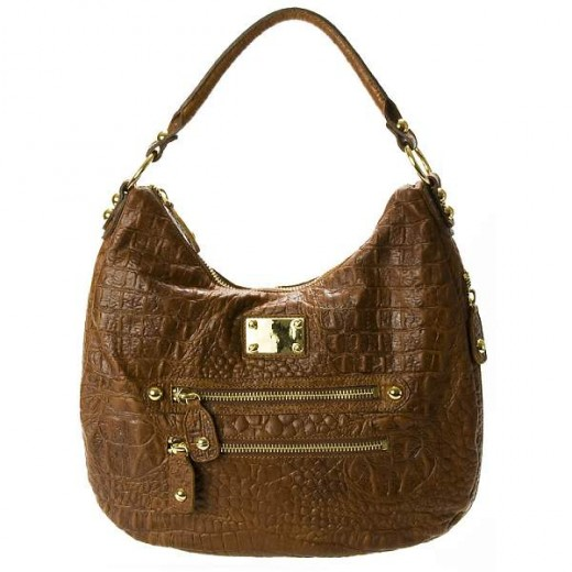 Dylan Croco Shoulder Bag