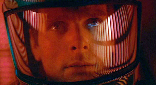 David Bowman Inside One of the Space Pods
