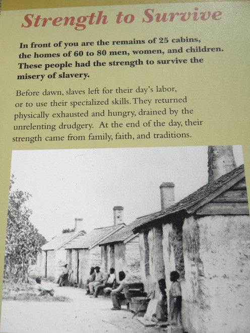 The same tabby slave cabins as in the drawing above.  Located at the Zephaniah Kingsley Plantation.