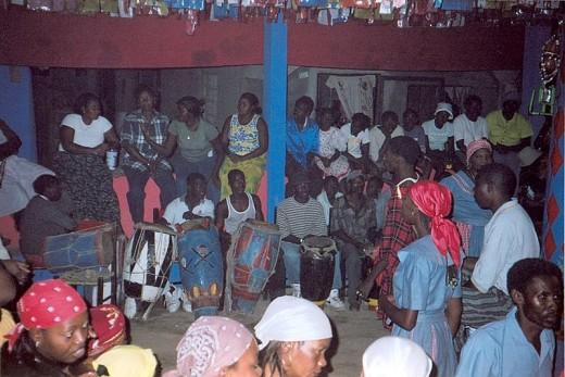 Vodou (Voodoo) ceremony in Jacmel Haiti