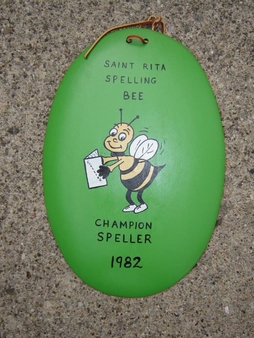My Spelling Bee Plaque