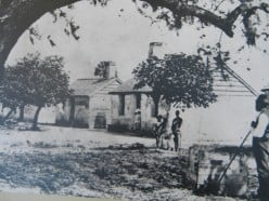 The Kingsley tabby cabins during occupation, not long after the Civil War.