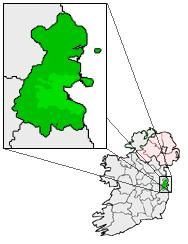 Map location of Dublin, Ireland Source: 'User:Bastique', GNU / Creative Commons A-SA 3.0, wikimedia.org
