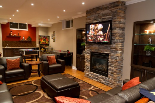 A gorgeous basement Great Room