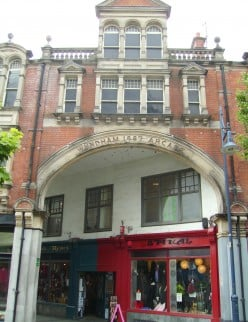 Wyndham Arcade, Mill Lane entrance, Cardiff, Wales