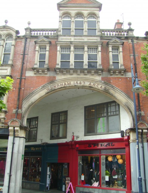 Wyndham Arcade, Mill Lane entrance, Cardiff, Wales