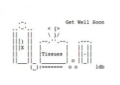 Get Well Soon ASCII Text Art