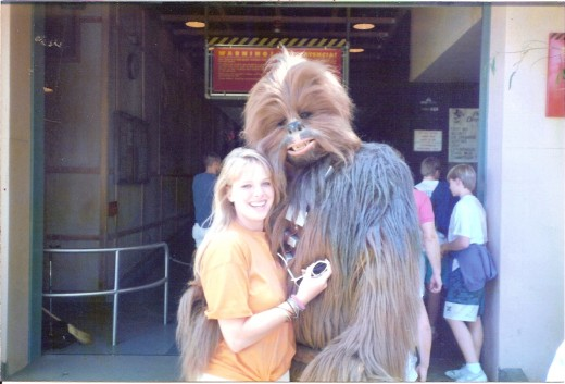 My daughter with Chewbacca