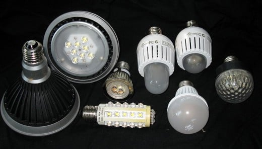 Various Types Of LED Bulbs