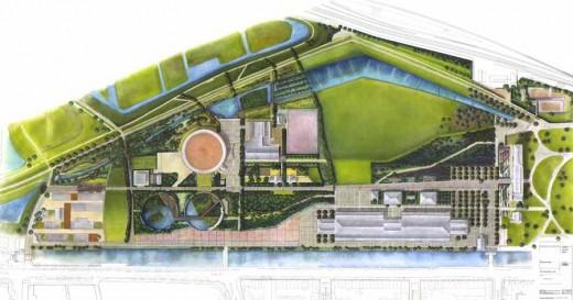 Plan for Westergasfabriek by Gustafson Porter