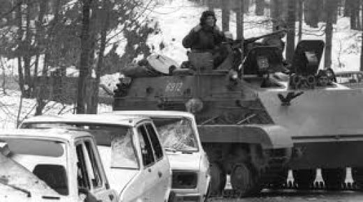 Serbian terror at Bloody Easter (Krvavi Uskrs) in 1991