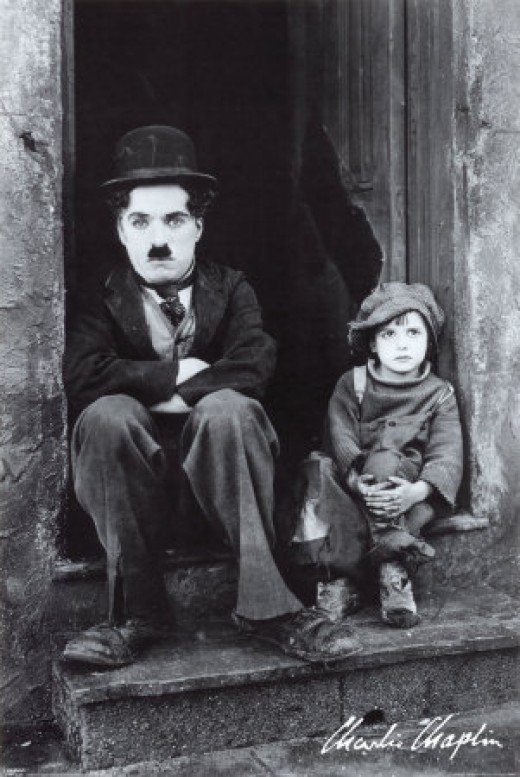 Charlie Chaplin and Little Boy Jackie Coogan