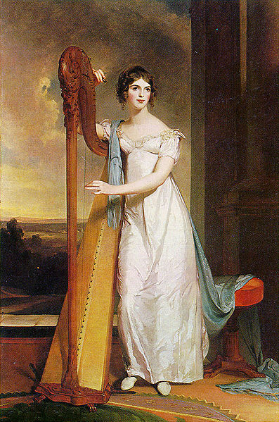 Lady With A Harp, Painted 1818