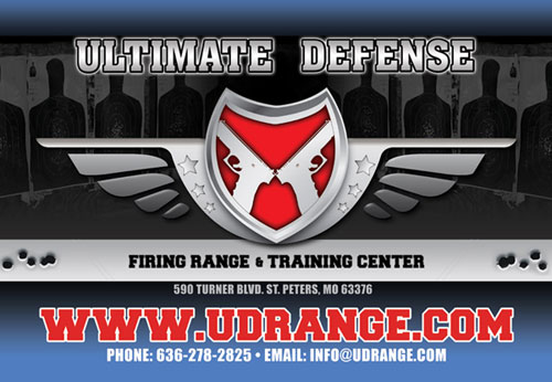 Ultimate Defense Logo and contact information