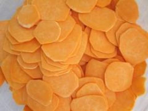 Raw Sweet Potato Chips