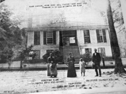 The plantation house where my great grandmother was born and raised before the Civil war.  The plantation itself was also home to over 200 slaves.  This photo was taken about 1897, long after the war.