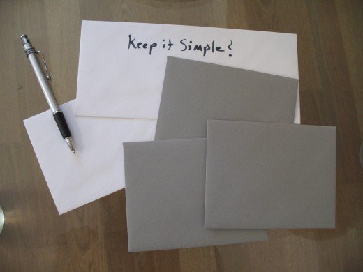 good quality envelopes/good writing implement