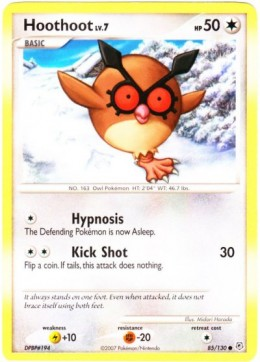 A Hoothoot version in the Pokemon Trading Card game
