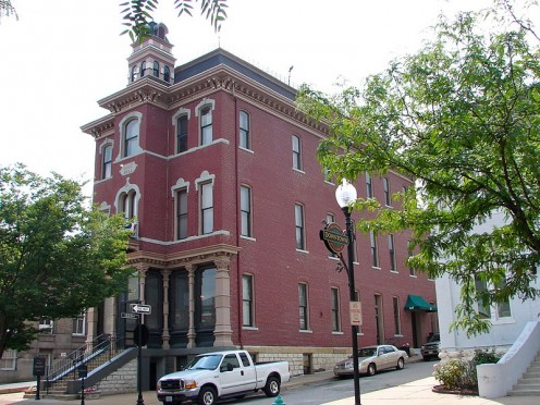 Part of Downtown Saint Charles Missouri.  You can see many neat buildings while visiting.