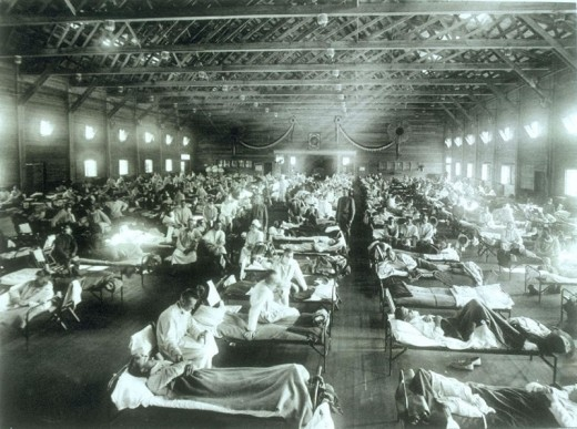 Camp Funston, Kansas serving as a hospital in the wake of the 1918 pandemic.