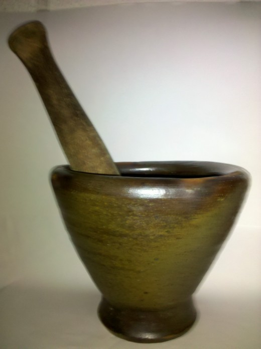 Grind up your spices for you meat and with rice recipes. Use a Pestle and Mortar. The best way to combine seasonings.