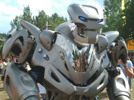 This eight foot tall robot called Titan, is a fully functioning robot complete with lights and sound. It has been featured in videos.