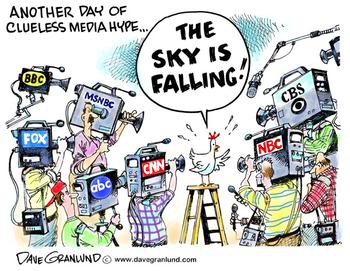 Wow the sky is falling run for cover.  You know it must be true because the media said so.