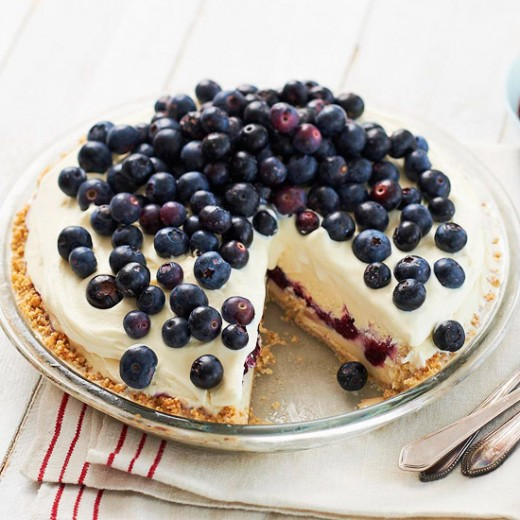 Delicious Double Layer Blueberry Cheesecake. ( Don't Forget To Pin It )