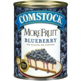 We use Blueberry Pie Filling For The Bottom Layer Of Blueberries