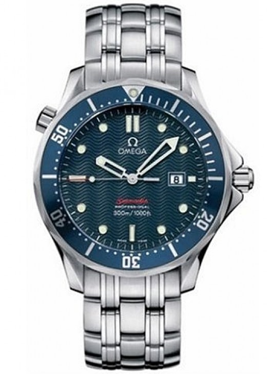 """Omega Men's 2221.80.00 Seamaster 300M """"James Bond"""" Blue Dial Watch - 2013 Top 10 Ultimate Birthday Gifts for Men, by Rosie2010"""