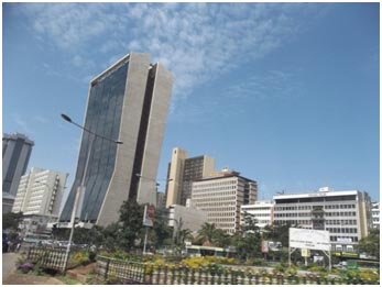 A view of the city from Haile Selassie Avenue
