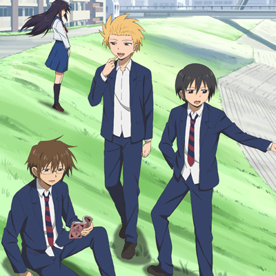 Hidenori, Yoshitake and Tadakuni. (oh and novelist girl in the background)