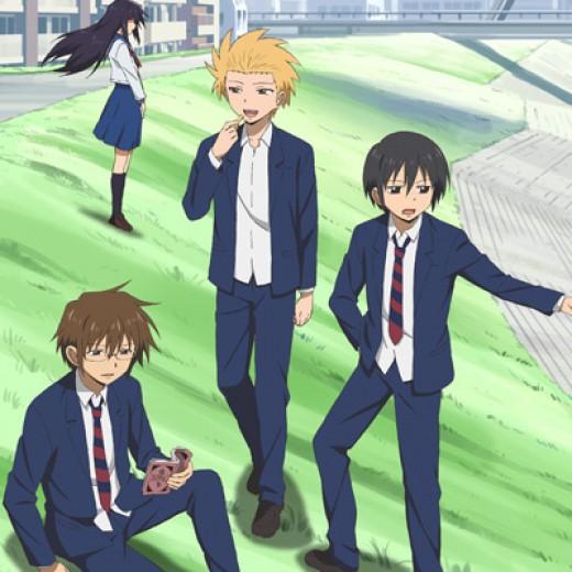Hidenori, Yoshitake and Tadakuni. (oh and novelist girl in the background)